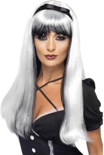Paruka Bewitching stříbrná/černá