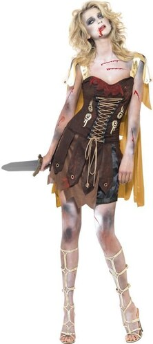 Kostým Zombie gladiátorka Velikost L 44-46