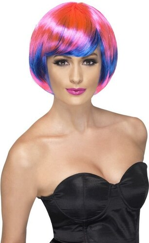 Paruka Funky babe růžová a modrá