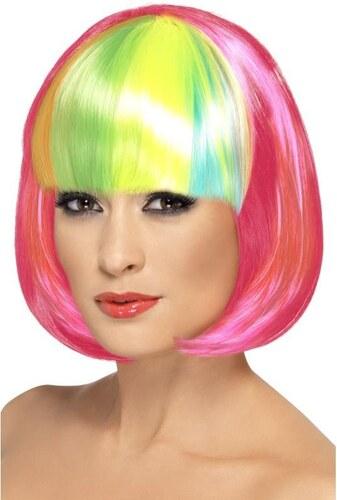 Paruka Partyrama neonová růžová