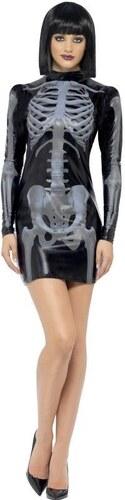 Kostým Kostlivka šaty 3D Velikost L 44-46