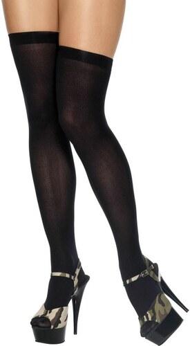 Punčochy nad kolena černé