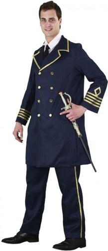 Kostým Námořní generál černý Velikost M/L 50-52