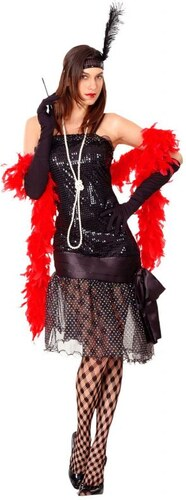 Kostým Flapper girl Velikost M/L 42-44