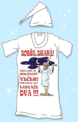 Noční košile s čepičkou Dobře drahá Velikost L
