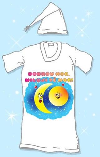 Noční košile s čepičkou Dobrou noc Velikost L