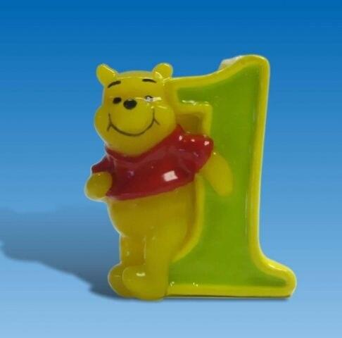 Svíčka Medvídek Pú Číslice 0