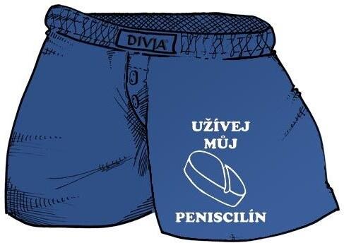 Trenýrky Užívej můj Peniscilín Velikost L