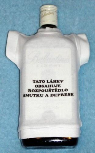Tričko na flašku Tato láhev obsahuje ...