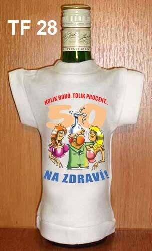 Tričko na flašku Kolik roků, tolik procent