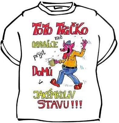Tričko Toto tričko mě opravňuje Velikost 146