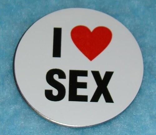 Nerez magnetka I love sex