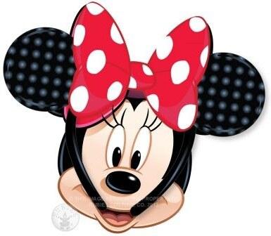 Uši Minnie Mouse s červenou mašlí