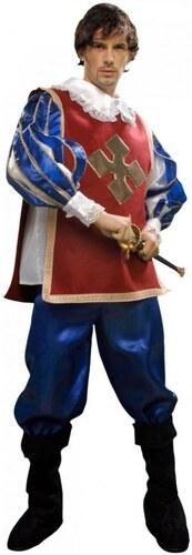 Kostým Mušketýr modrá/bordó Velikost S 46-48