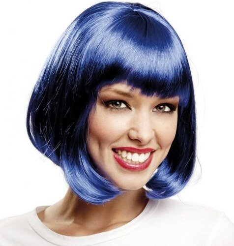 Paruka Mikádo modré