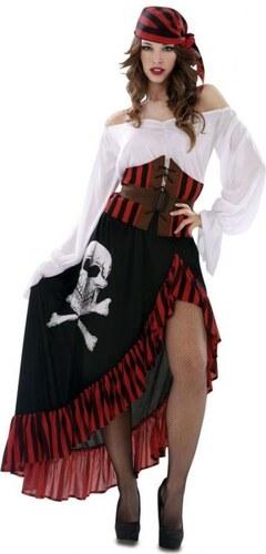 Kostým Pirátka Velikost M/L 42-44