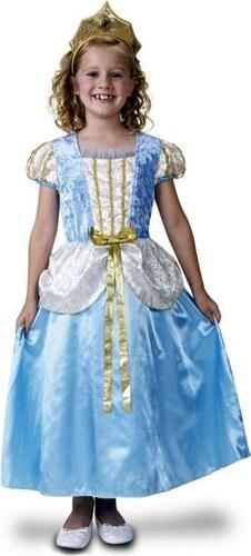 Dětský kostým Princezna deluxe,modrá Pro věk (roků) 5-6