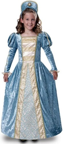 Dětský kostým Princezna modrá Pro věk (roků) 10-12
