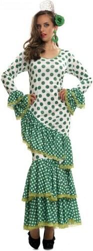 Kostým Tanečnice flamenga zelená Velikost M/L 42-44