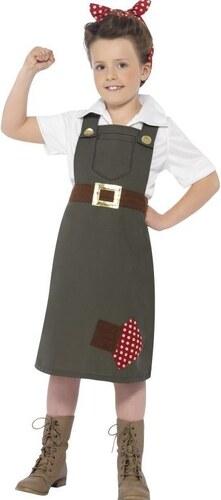 Dětský kostým Pracovnice v muničním skladu Pro věk (roků) 10-12