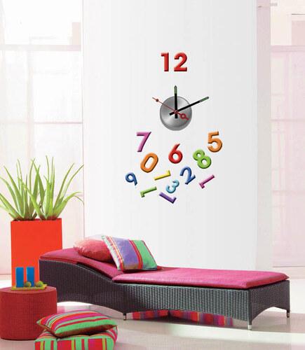 Nalepovací nástěnné hodiny - Color - 10A007