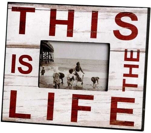 Rámeček na fotografie This is Life Barva White