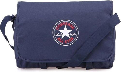 Tměvě modrá prostorná taška přes rameno Converse Flap Messenger ... 417b8efb30d