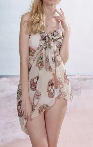 LM moda Sarong šátek na pláž 114 bílý s lebka - Glami.cz dff1606aeb