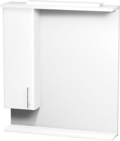 Zrcadlová stěna 70 cm, skříňka vlevo