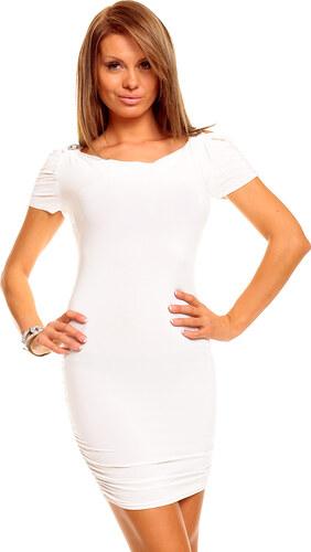 Atraktivní dámské šaty YOUND BLOOG - bílé