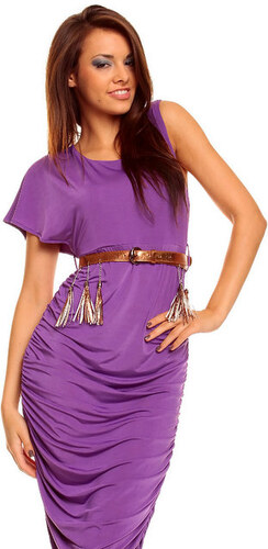 Elegantní šaty zn. Mayaadi Deluxe - fialové