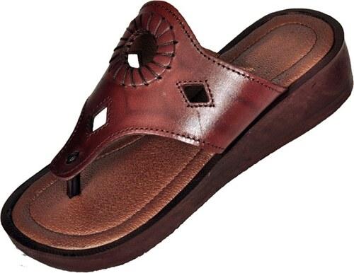 Kožené ručně šité sandály pantofle Kleopatra dámské - Glami.cz 37b1bef5ab