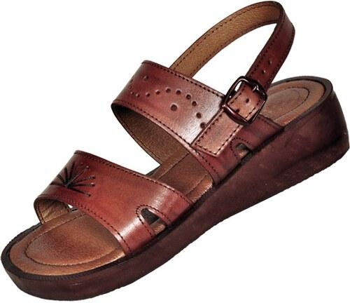Kožené sandály 210 Ramesse - s klínem