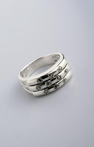 Stříbrný prsten s markazitem PM004