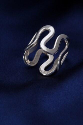 Stříbrný prsten PS028
