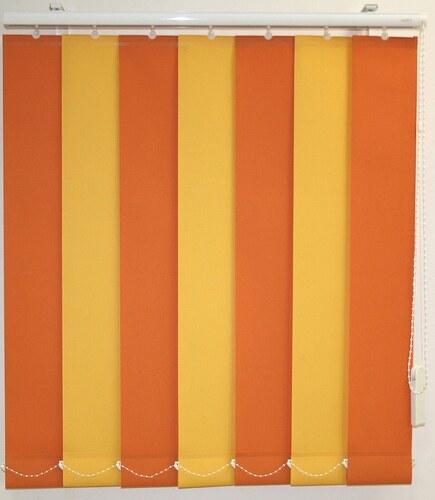 Vertikal-Lamellenvorhang mit weißen Verbindungsketten, Sunlines, Wunschmaß, Ohne Teilung