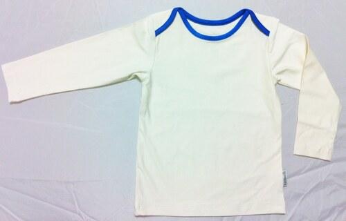 Bambusové tričko - dětské bambusové tričko (bílá s modrou)