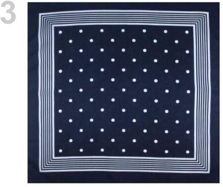 24c164fc6df Bavlněný šátek 70x70 cm s puntíky modrá pařížská - Glami.cz