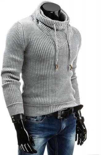Pánský svetr Murry světle šedý - šedá