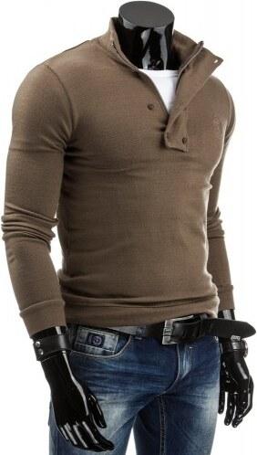 Pánský svetr Mendoza hnědý - hnědá