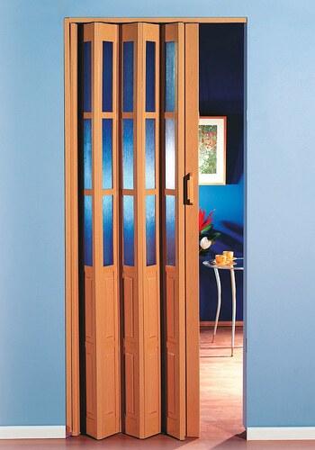 Kunststoff-Falttür, Breite bis 100 cm, buchefarben