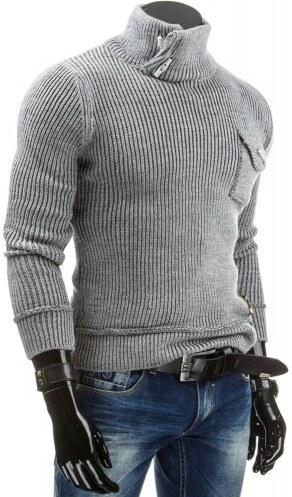 Pánský svetr Flam šedý - šedá