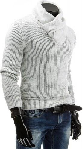 Pánský svetr Vivel krémový - bílá