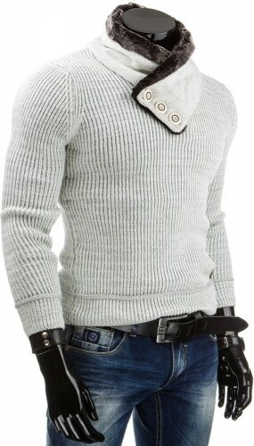 Pánský svetr Elebra krémový - bílá