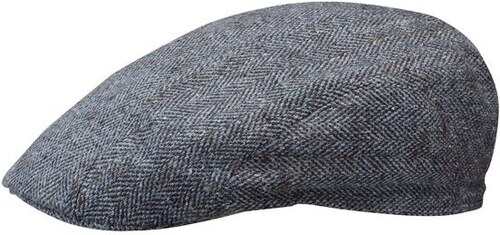 Stetson Madison - modrá hedvábná plochá letní čepice s kšiltem ... 497a864887