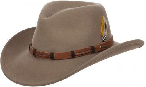 Stetson Clanton - béžový plstěný westernový klobouk - Glami.cz ac532de28a