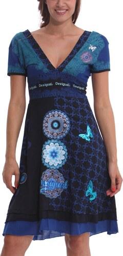 Desigual šaty Flechazo modré - Glami.cz 33b66bf5f33