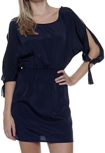 Dámské modré šaty s prostřiženými 3 4 rukávy Guess - Glami.cz 7e3416e2102