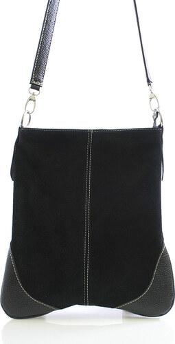 1f54863ecd1 Dámská kabelka černá kožená crossbody - ItalY 10062 černá - Glami.cz