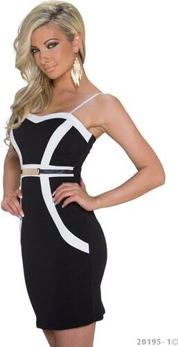 Společenské dámské šaty Italy Moda - černobílé - Glami.cz 77ce783385
